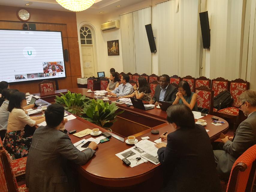 Hình ảnh cuộc họp trực tuyến tại Tổng cục Du lịch