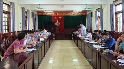 Đoàn khảo sát họp tại UBND Tp. Sầm Sơn