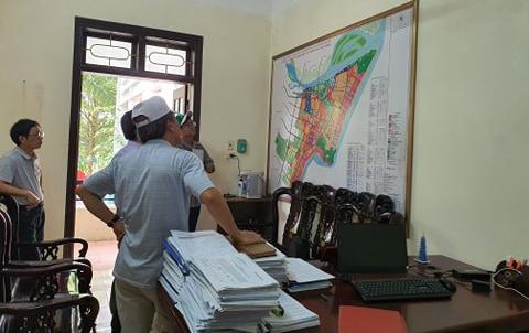 Đoàn làm việc với Phòng Quản lý đô thị UBND Tp. Sầm Sơn