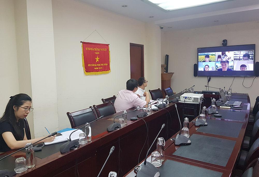 cuộc họp trực tuyến với đại diện Hội đồng các Chính quyền địa phương Nhật Bản về Quan hệ Quốc tế (J.CLAIR)