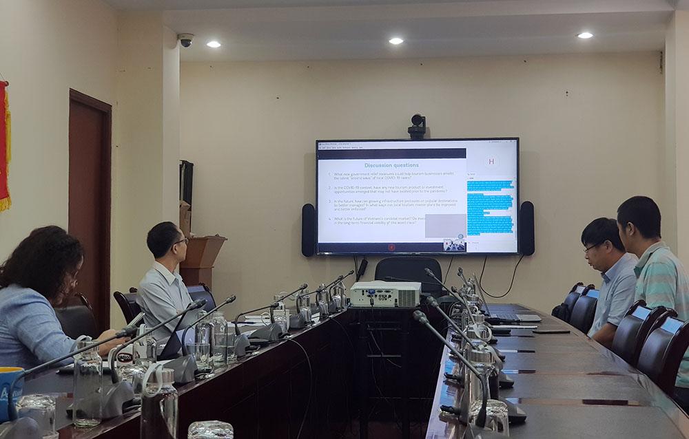 Viện NCPT Du lịch tham gia họp trực tuyến